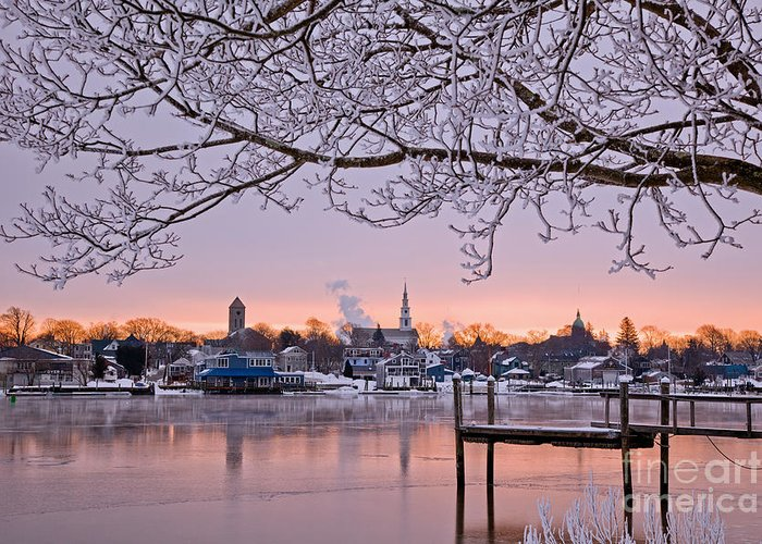 Winter Greeting Card featuring the photograph A Winter's Day by Butch Lombardi
