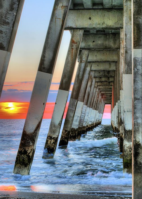 A Wrightsville Beach Morning Greeting Card featuring the photograph A Wrightsville Beach Morning by JC Findley