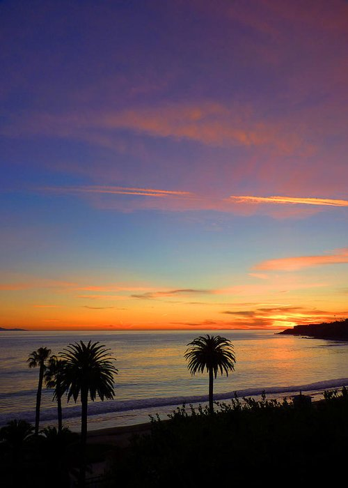 Sunset Greeting Card featuring the photograph Abalone Cove Sunset by Karey and David Photography