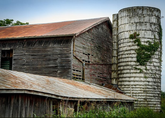 Shenandoah Valley Greeting Card featuring the photograph Abandoned Barn by Pat Scanlon