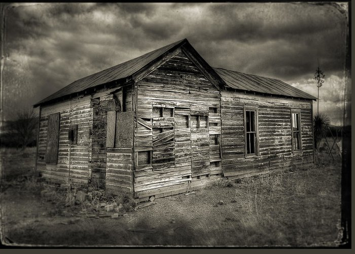 Rustic Greeting Card featuring the photograph Abandoned Home by John Forrey