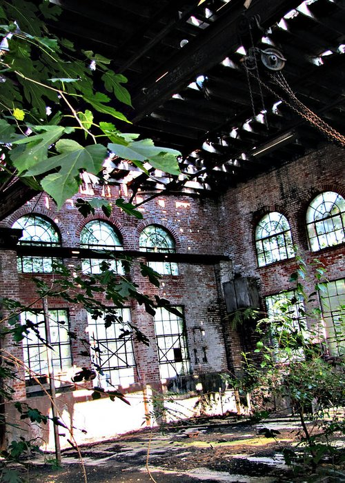 Duncan Greeting Card featuring the photograph Abandoned Power House by Debbie Duggar