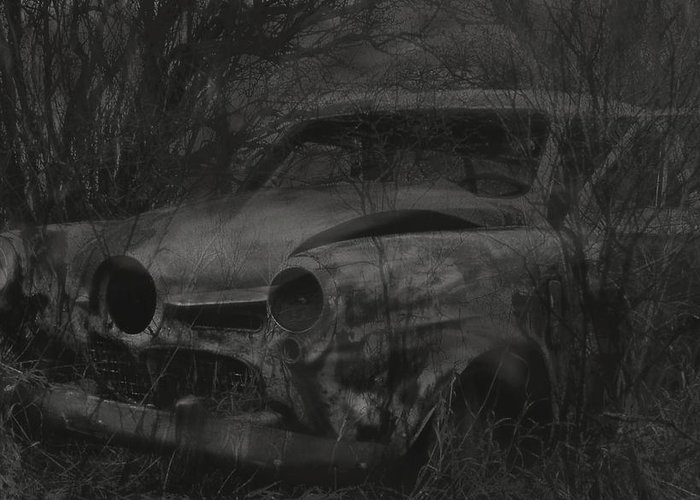 Studebaker Greeting Card featuring the photograph Abandoned Studebaker by Jim Vance