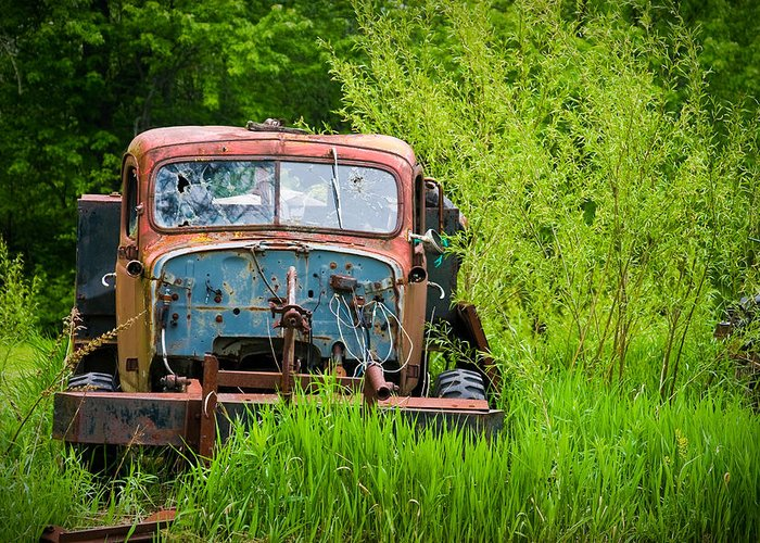 3scape Photos Greeting Card featuring the photograph Abandoned Truck In Rural Michigan by Adam Romanowicz