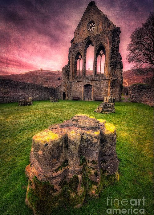 13th Century Greeting Card featuring the photograph Abbey Ruin by Adrian Evans