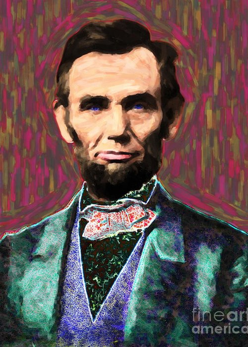 Celebrity Greeting Card featuring the photograph Abe 20130115 by Wingsdomain Art and Photography