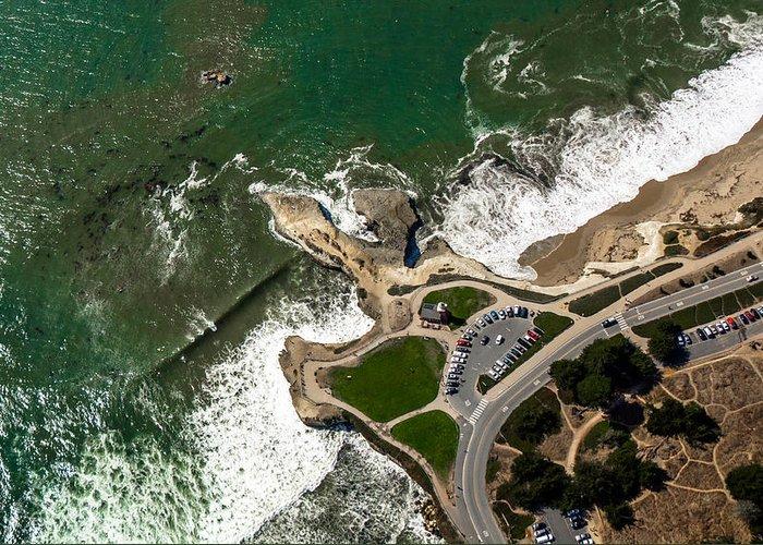 Santa Cruz Greeting Card featuring the photograph Above Steamer Lane Santa Cruz by Randy Straka