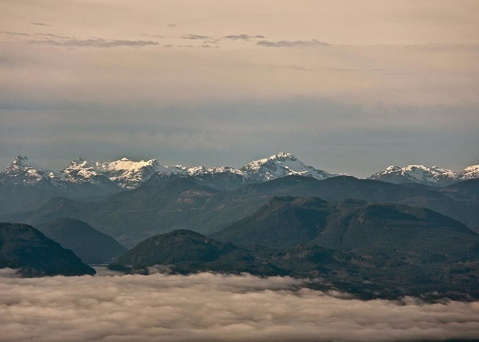West Coast Greeting Card featuring the photograph Above The Clouds by Darren Edwards