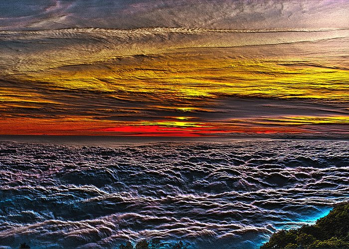 Mt Wilson Greeting Card featuring the photograph Above The Marine Layer V3 by Richard J Cassato