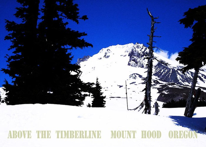 Mt. Hood Greeting Card featuring the digital art Above The Timberline Mt Hood Oregon by Glenna McRae