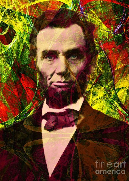 Celebrity Greeting Card featuring the photograph Abraham Lincoln 2014020502p28 by Wingsdomain Art and Photography