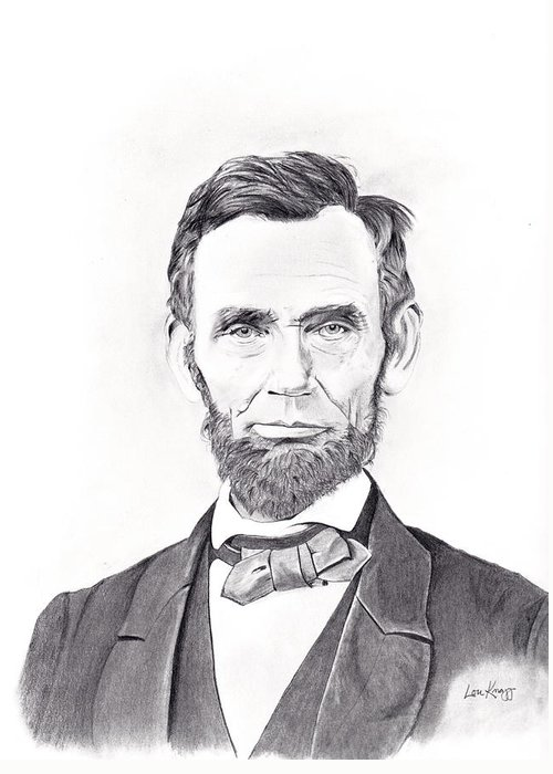 Abraham Lincoln Greeting Card featuring the drawing Abraham Lincoln by Lou Knapp