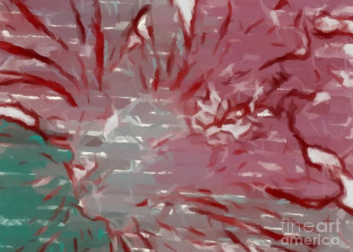 Abstract 101 Greeting Card featuring the painting Abstract 101 by Barbara Griffin