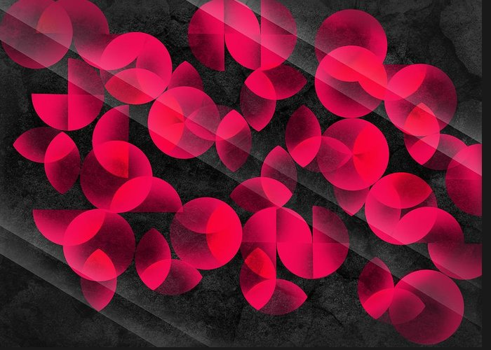 Contemporary Greeting Card featuring the digital art Abstract 4 by Mark Ashkenazi