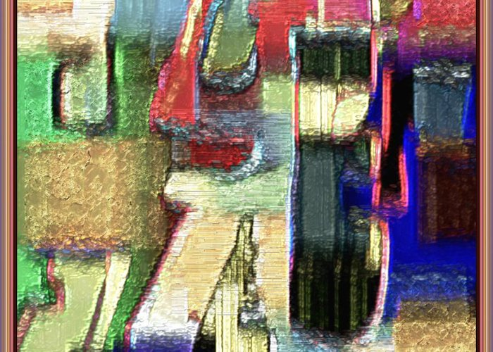Fine Art Greeting Card featuring the painting Abstract 927 by Nedunseralathan R