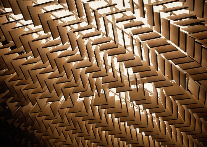 Material Greeting Card featuring the photograph Abstract Architectural Pattern by Lena serditova