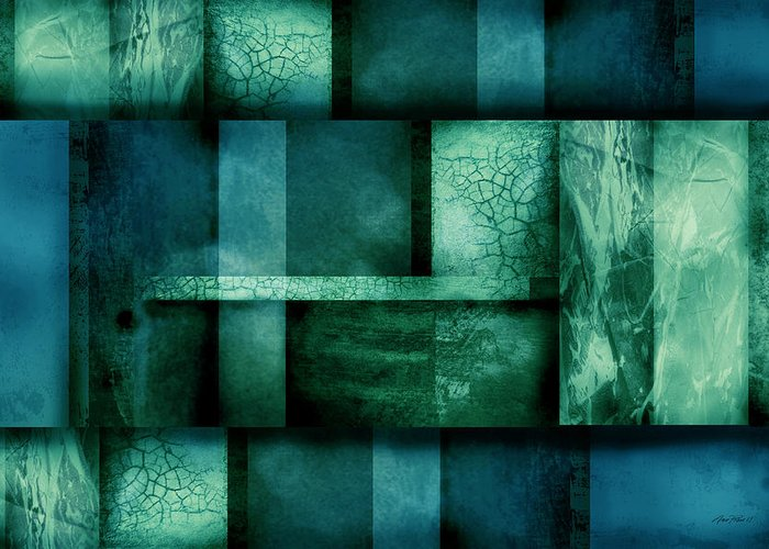 Abstract Greeting Card featuring the digital art abstract art Blue Dream by Ann Powell