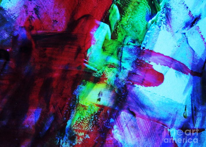 Red Greeting Card featuring the photograph Abstract Bold Colors by Andrea Anderegg