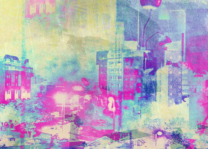 Mark Meir Paluksht Greeting Card featuring the photograph Abstract City by Mark-Meir Paluksht