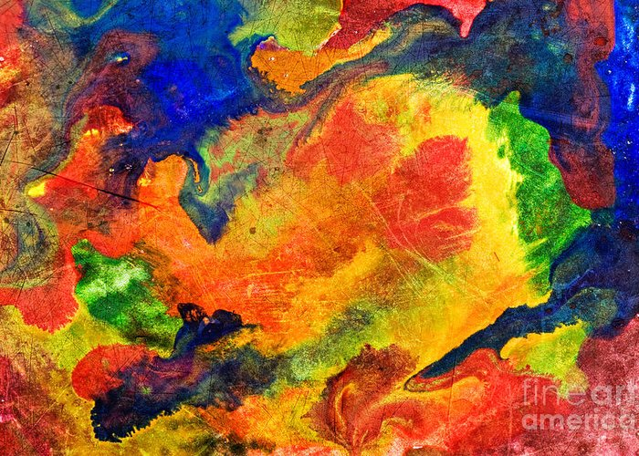 Color Greeting Card featuring the photograph Abstract Colorful Background by G J