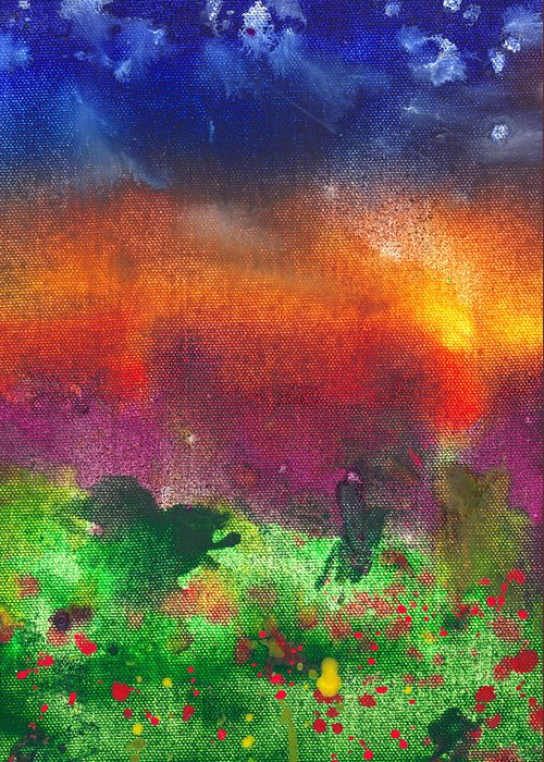 Abstract Greeting Card featuring the photograph Abstract - Crayon - Utopia by Mike Savad