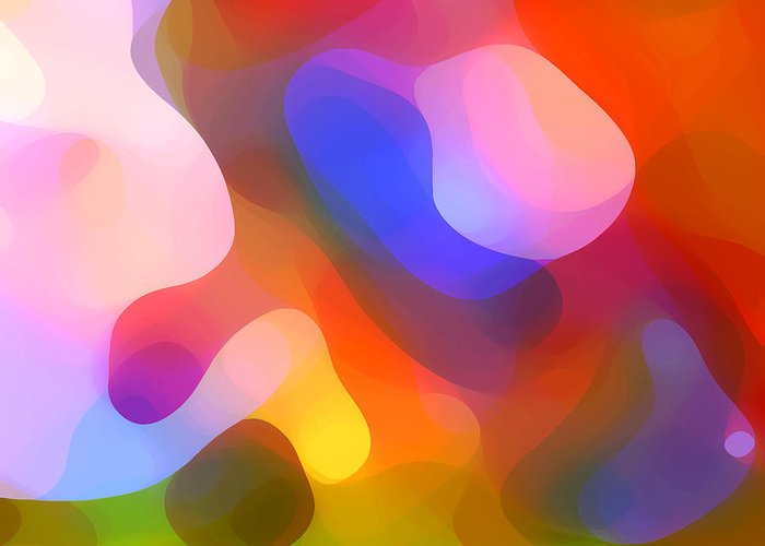 Abstract Art Greeting Card featuring the painting Abstract Dappled Sunlight by Amy Vangsgard