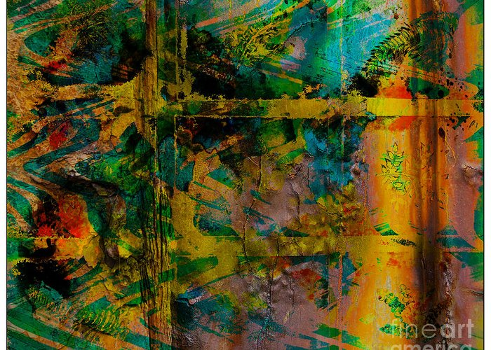 Front Greeting Card featuring the digital art Abstract - Emotion - Facade by Barbara Griffin
