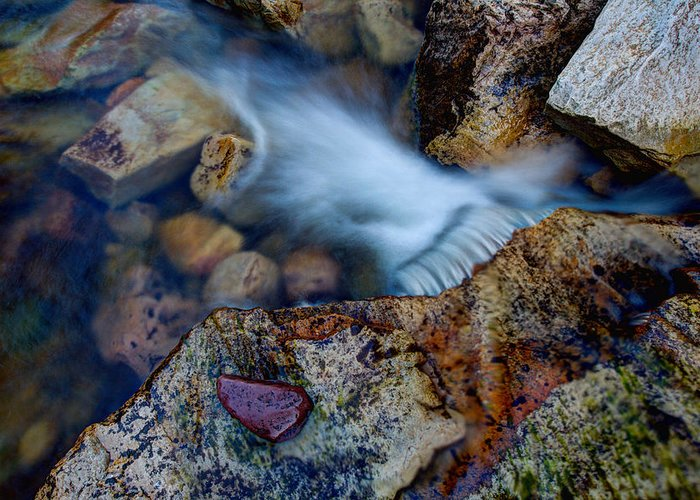 Outdoor Greeting Card featuring the photograph Abstract Falls by Chad Dutson