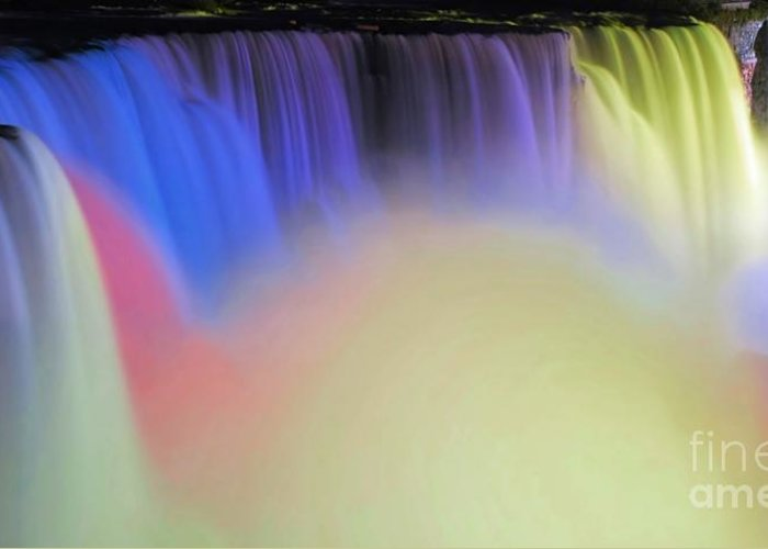 Niagara Greeting Card featuring the photograph Abstract Falls by Kathleen Struckle