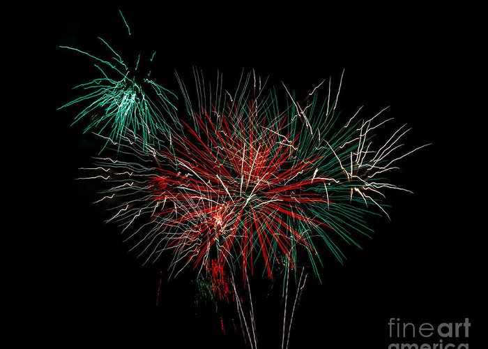 Fireworks Greeting Card featuring the photograph Abstract Fireworks by Robert Bales