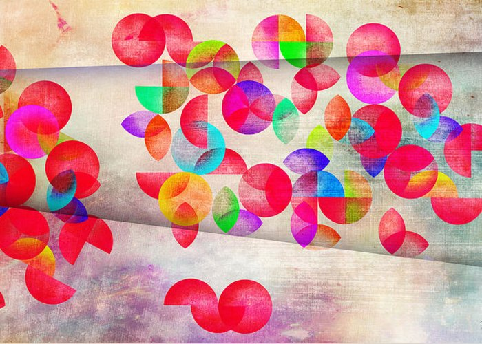 Contemporary Greeting Card featuring the painting Abstract Floral by Mark Ashkenazi