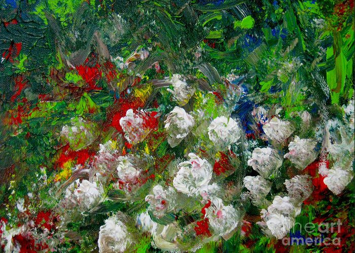 Painting Greeting Card featuring the painting Abstract Flowers by Wendy Marelli