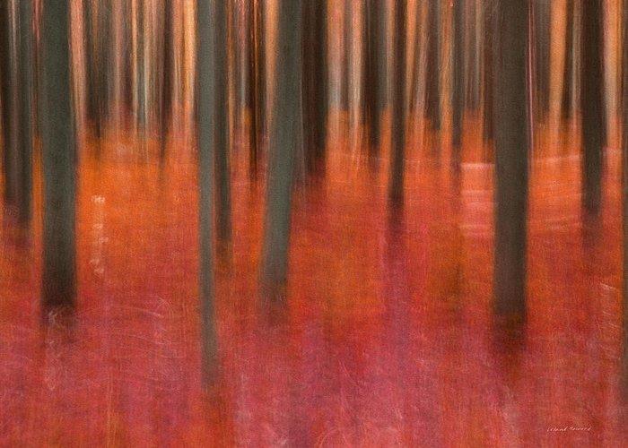 Impressionistic Landscape. Fall Greeting Cards