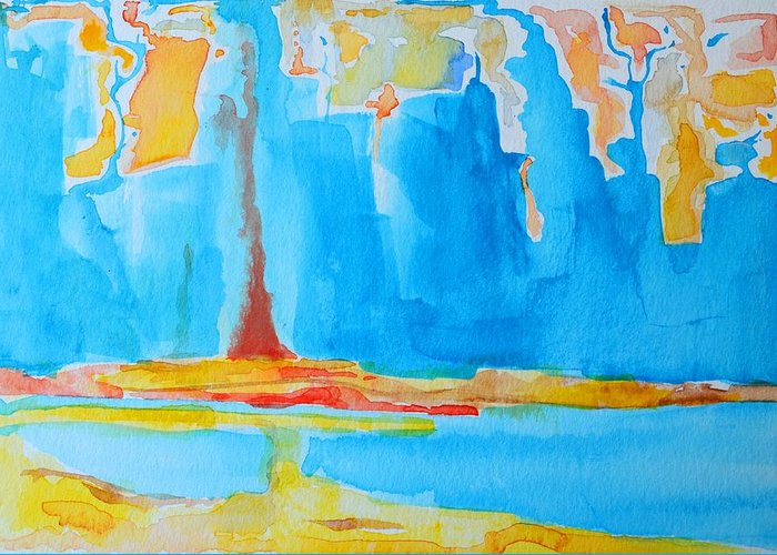 Abstract Watercolor Greeting Card featuring the painting Abstract II by Patricia Awapara