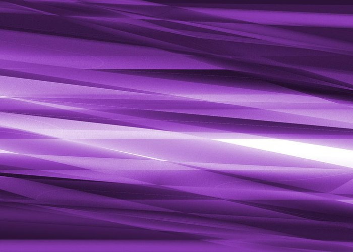 Abstract Greeting Card featuring the glass art Abstract Modern Purple Background by Somkiet Chanumporn