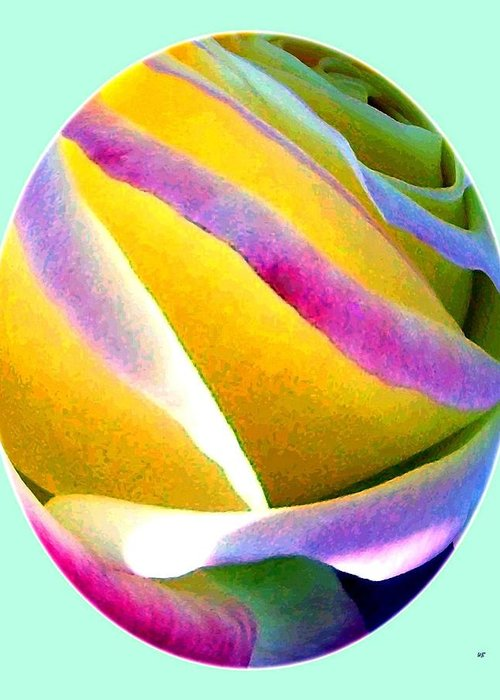 Abstract Rose Oval Greeting Card featuring the digital art Abstract Rose Oval by Will Borden