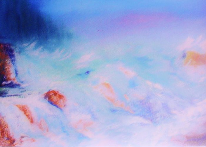 Nature Greeting Card featuring the painting Abstract Sea by Lorenzo Roberts