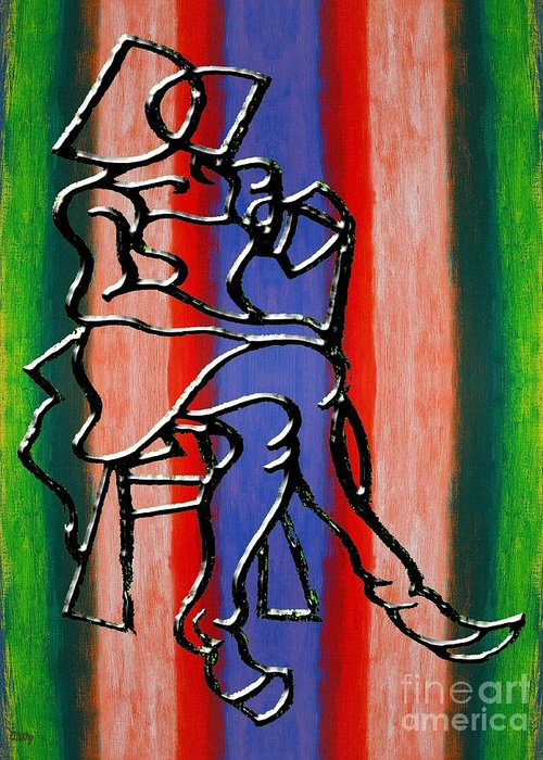 Abstract Greeting Card featuring the painting Abstraction 232 by Patrick J Murphy