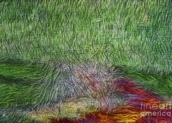Abstract Greeting Card featuring the digital art Abstraction Of Life by Deborah Benoit