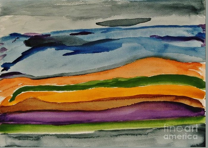 Painting Greeting Card featuring the painting Abstractscape by Marsha Heiken