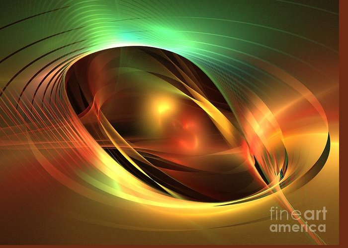 Apophysis Greeting Card featuring the digital art Accretion Disk by Kim Sy Ok