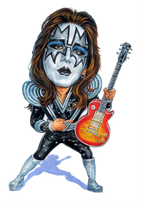 Ace Frehley Greeting Card featuring the painting Ace Frehley by Art