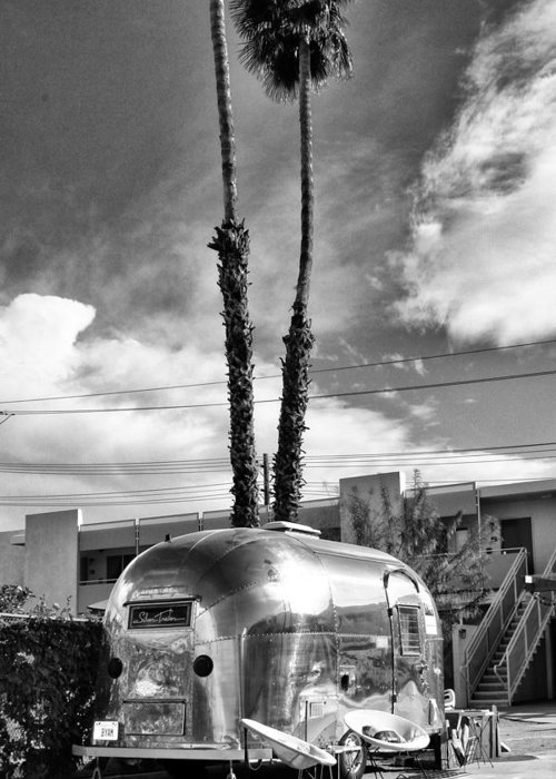 Airstream Greeting Card featuring the photograph Ace Trailer Palm Springs by William Dey