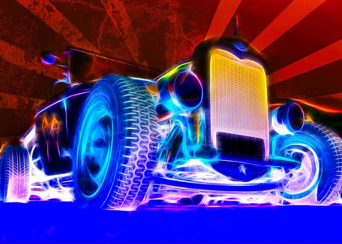 Hot Rod Greeting Card featuring the photograph Acid Ford Hot Rod by Phil 'motography' Clark