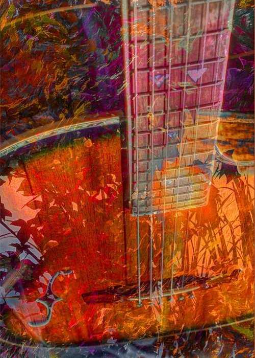 Acoustic Greeting Card featuring the photograph Acoustic Dreams Digital Guitar Art By Steven Langston by Steven Lebron Langston