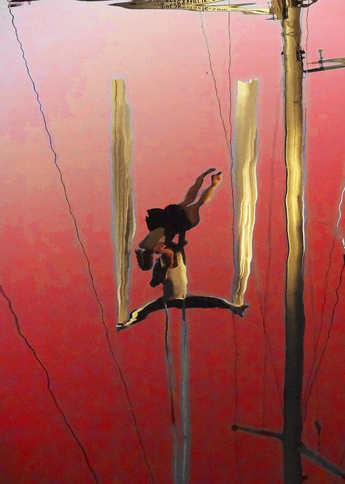 Anne Mott Greeting Card featuring the photograph Acrobatic Aerial Artistry1 by Anne Mott