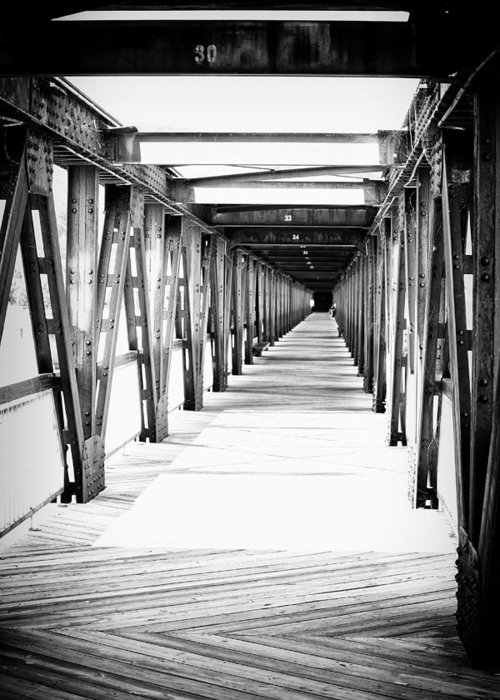 Bridge Greeting Card featuring the photograph Across The Bridge by Tera Bunney