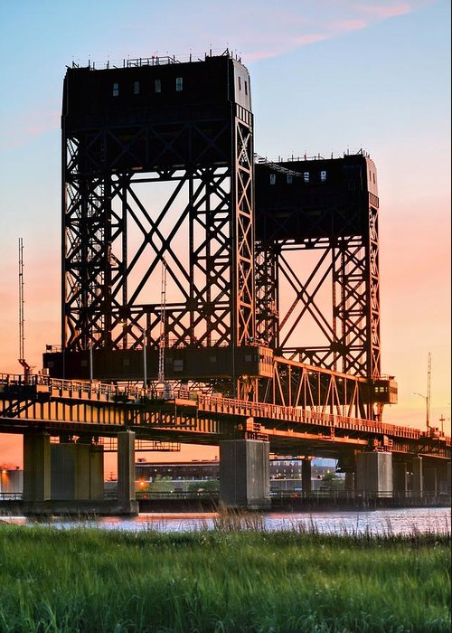 Hackensack River Greeting Card featuring the photograph Across The Hackensack by JC Findley