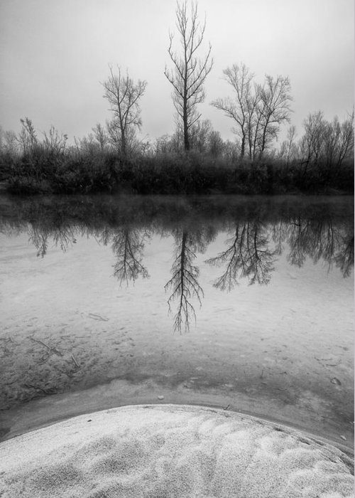 Landscapes Greeting Card featuring the photograph Across The Water by Davorin Mance