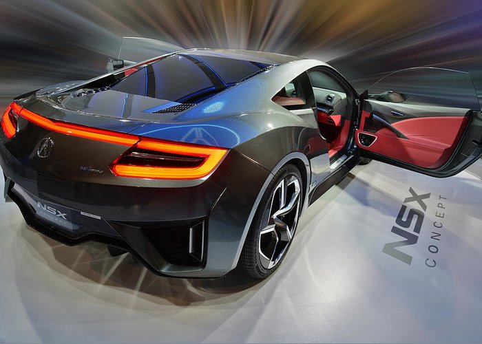 Acura Greeting Card featuring the photograph Acura N S X Concept 2013 by Dragan Kudjerski